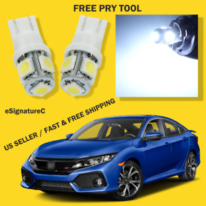 10 X White Led Lights Interior Package For Honda Civic 2013 2020 Pry Tool