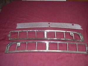 1960 1961 1962 Pair Of Chrysler Imperial Cowl Screen Moldings 1878644 5 Lh Rh