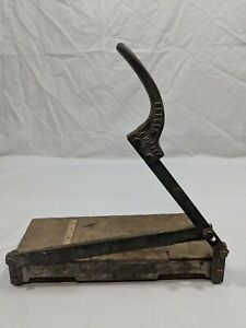 Antique Kreger Fixed Guillotine Paper Cutter Trimmer Commercial Early 1900s Vtg