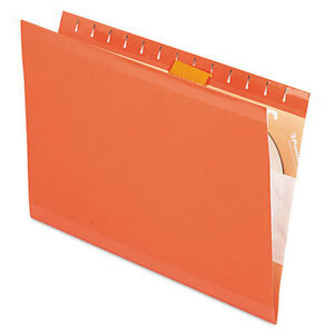 25 Pendaflex Reinforced Hanging Folders 1 5 Tab Cut Orange 4153