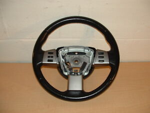 2006 Nissan Altima Steering Wheel Black Leather Wrap