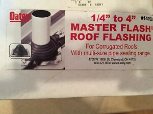 1 4 To 4 Oatey Master Flash Roof Flashing No 14052 For Corrugated Roofs