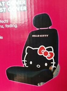 Hello Kitty Low Back Bucket Seat Car Seat Covers Headrests Black Red New