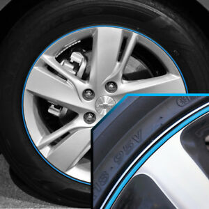 Wheel Bands Sky Blue In Black Pinstripe Trim For Chevy Cavalier 13 22 Rims