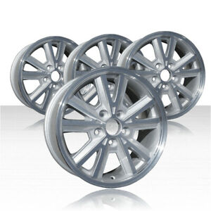 Revolve 16x7 Machined And Silver Wheel For 2005 2009 Ford Mustang Set Of 4
