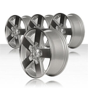 Revolve 17x7 5 Machined And Silver Wheel For 2006 2008 Jeep Commander Set Of 4