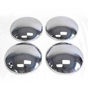 10 1 8 Chrome Baby Moons Moon Center Hubcaps Steel Wheel Cover Hot Rod Smoothie
