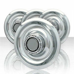 4 New 3 Bar Spinners Rally Wheel Center Hub Caps Rim 5 Lug Nut Covers For Chevy