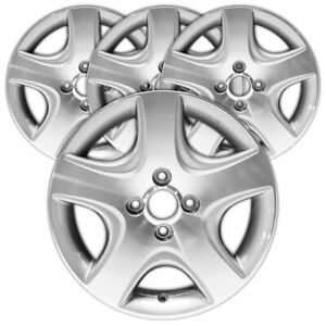 15 Machined Medium Gray Rim By Jte For 2004 2005 Honda Civic 15x6 Set Of 4