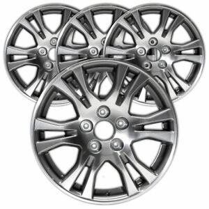 17 Mach D W Charcoal Vents Rim By Jte For 11 13 Honda Odyssey 17x7 Set Of 4