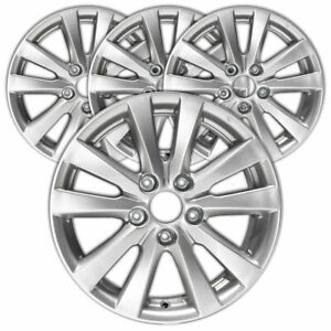 16 Silver Rim By Jte For 2012 2012 Honda Civic 16x6 5 Set Of 4
