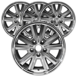 16 Machined And Silver Rim By Jte For 2005 2009 Ford Mustang 16x7 Set Of 4