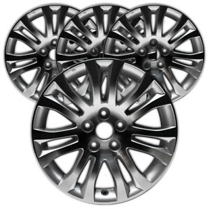 17 Machined And Silver Rim By Jte For 2011 2017 Toyota Sienna 17x7 Set Of 4