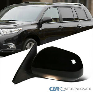 For Toyota 08 13 Highlander Driver Power Heated 7 Pin Side Mirror W Puddle Lamp