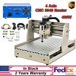 4 Axis Cnc3040 Router Milling Engraver Cutter Enrgaving Machine Kit 400w Spindle