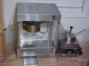 6 Quart Commercial Popcorn Machine With Butter Warmer Machine Works Clean Nice