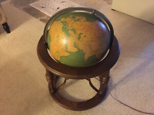 Vintage Rand Mcnally 16 Lighted Indexed Terrestrial Globe Floor Model Rare