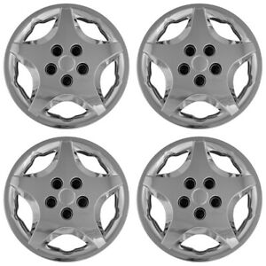 Set Of 4 14 Chrome Full Wheel Covers Rim Hub Caps For 92 05 Chevy Cavalier Aero