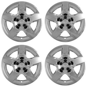 4 New Chrome 07 12 Malibu G6 Aura 17 Bolt On Hubcaps 5 Spoke Rim Wheel Covers