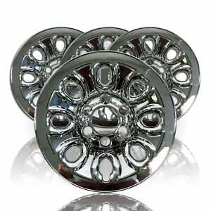 Set Of 4 Chevy 1500 6 Lug 17 Chrome Wheel Skins Rim Simulators Hubcaps Covers