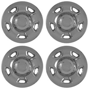 4 Chrome 04 12 Ford F150 17 Wheel Skins Hubcaps Simulators Hubs Lug Rim Covers