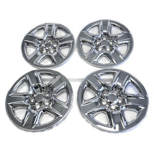 4 17 Chrome Wheel Skins Hub Caps Full Rim Skin Covers For 2006 2012 Toyota Rav4