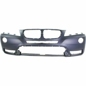 Front Bumper Cover For 2011 2014 Bmw X3 W Fog Lamp Holes Primed
