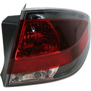 Halogen Tail Light For 2009 2010 Ford Focus Coupe Right W Painted Insert bulbs