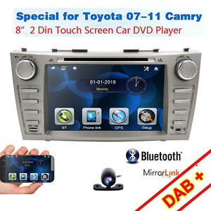 8 For Toyota Camry 2007 2011 Gps Navigation Car Radio Stereo Dvd Player hd Cam