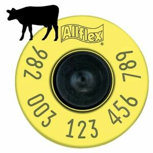 Allflex Eid Cattle Ear Tags Fdx Yellow Tamperproof 20 Count