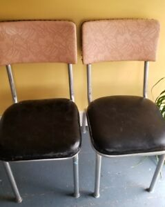 Pair Of Vintage Kitchen Table Chairs Pink
