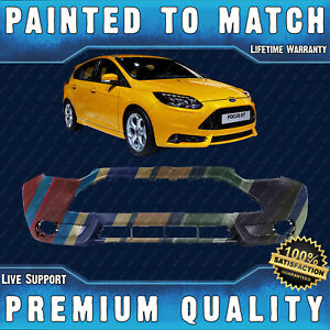 New Painted To Match Front Bumper Cover For 2013 2014 Ford Focus St Hatchback