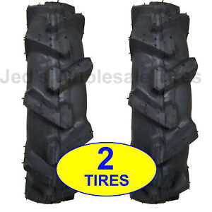Two New 6 00 12 Deep Lug R 1 Tires With Tubes Compact 4wd Farm Tractors 600 12
