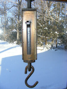 Large Antique Chatillon Ny Usa 300 Lb Hanging Scale Plant Hanger Hook