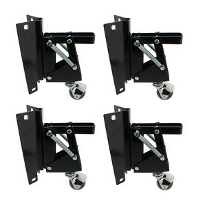 Clearance Dct Heavy duty Retractable Workbench Casters With Bracket 4 pack
