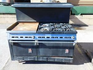 Wolf Industrial Stove With Griddle And Oven Non working T130604