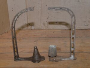 2 Antique Cast Iron General Store String Holder Collectible Display Lot