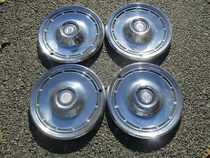 Factory 1976 To 1979 Dodge Aspen 14 Inch Hubcaps Wheel Covers Set