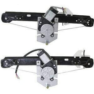 Power Window Regulator Set For 2008 2011 Ford Focus Rear With Motor 2pcs
