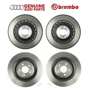 For Audi S6 S7 S8 Front And Rear Left Right Vented Disc Brake Rotors Kit