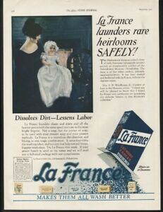 1923 La France Laundry Soap Tablet Baby Dress Heirloom Museum Box Wash 22131