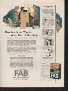 1924 Colgate Fab Soap Laundry Hygiene Skin Care Wash Ad13280