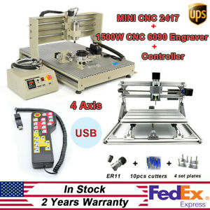 4 Axis 1500w Cnc 6090 Router Engraving Engraver Mini Cnc2417 Engraver Kit rc
