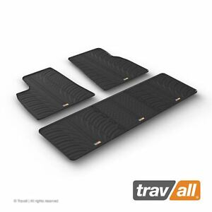Travall All Weather Rubber Car Floor Mats Custom Fit For Tesla Model S 12 2016