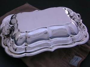 Sterling Cartier Covered Vegetable Entree Dish 30 73 Troy Ozs Exc Cond