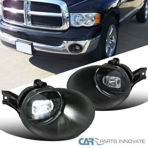 02 08 Dodge Ram Pickup Clear Smd Led Projector Fog Lights Driving Bumper Lamps