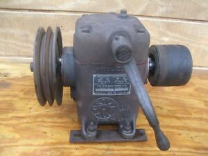 Cincinnati Lathe Drive All 4 Speed Belt Drive Box Model 200