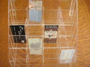 20 Pocket Business Card Display Holder Free Standing Acrylic Newunopened Bx Usa