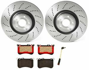 Brembo Front Brake Kit Ceramic Pads Sensor Vented Drill Disc Rotors For Mb W218