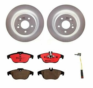 Brembo Rear Brake Kit Ceramic Pads Disc Rotors 300mm For Mercedes W204 C250 C300